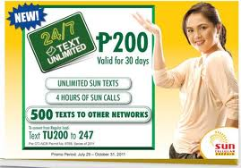 Sun Cellular Call And Text Combo