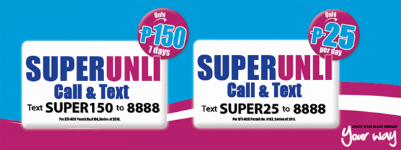 super unimited call and txt promo by globe telecom