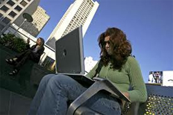 mobile broadband woman